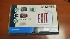 Hubbell Exit Sign (00144) 120/277 volt - LED - White Housing / Red Letters