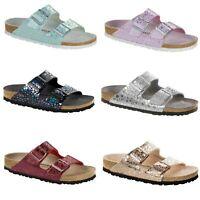 Birkenstock Arizona Metallic Stones Glitter Sparkle Shiny Sandals Slides NEW