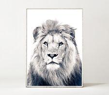 LION Kunstdruck / Poster / Bild Löwe elegant Raubkatze Portrait Tier