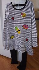 Emily Rose NEW Girls Tunic & Leggings NEW Size 7 EMOJI Striped Outfit