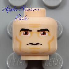 NEW Lego Light FLESH MALE MINIFIG HEAD Police Agent Grin Storm Trooper Star Wars