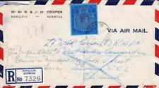 Bermuda SG#116-KEY PLATE(single frank)-HAMILTON 8/AP/44-Registered(label)