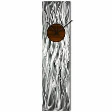 Modern Wall Clock Silver Home Decor Root Beer Kitchen Metal Wall Abstract Clock