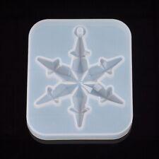 Silikonform Schneeflocke Weihnachten 82x65 mm Handwerk Resin  Abformen