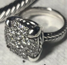 David Yurman Chatelaine Sterling Silver Ring With Diamonds