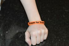 100 Bracelets Prayers For Trump Orange Glow Bracelets Make America Great Again!