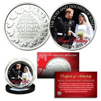 PRINCE HARRY & MEGHAN MARKLE Official Look of Love Royal Wedding RCM Coin