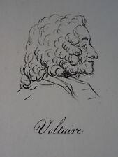 Gravure XVIII PORTRAIT VOLTAIRE JOSEPH VERNET FANNY MOREAU MANIERE CRAYON 1790