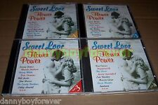 Sweet Love & Flower Power 4 CD Set Woodstock Hollies The Doors Santana Crests