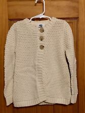 Old Navy Cream Button Sweater Girls Size 5t NWOT