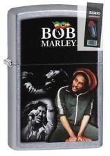 Zippo 29572 Bob Marley Street Chrome Finish Full Size Lighter + FLINT PACK