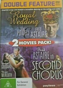 Royal Wedding + Second Chorus DVD Fred Astaire Movie (Double Feature) BRAND NEW