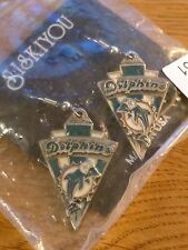 NFL Cast Dangle Earrings Miami Dolphins