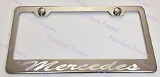 Mercedes Incursive Style Stainless Steel License Plate Frame Rust Free W/Boltcap