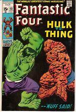 Fantastic Four #112 (Jul 1971; Marvel)  Hulk Vs. Thing, Buscema  art; 9.0 VF/NM