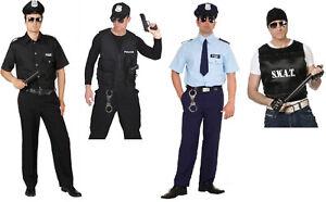 Polizist Polizei Kostüm Uniform Anzug Weste Herren Polizeikostüm FBI SWAT Police