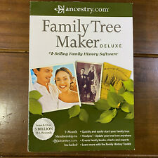 Used Ancestry.com Family Tree Maker Deluxe 2012 Software