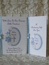 Handmade Christening Baptism Naming Day Card Boy/ Girl With Matching Gift Wallet