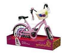 """New Our Generation Pink Anywhere You Cruise Bicycle Bike 18"""" American Girl Doll"""