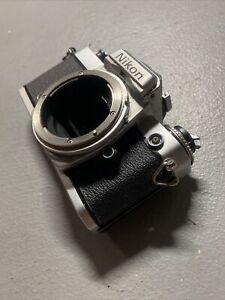 NIKON  FE 35mm SLR Film Camera Body Silver And Black Acceptable Vintage
