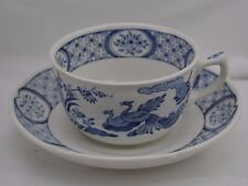Furnival Old Chelsea Blue Bird of Paradise Cup and Saucer