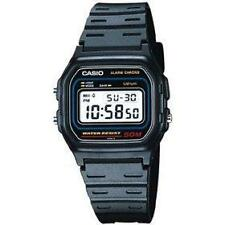 Casio w59-1v gents-mens digitale calendario sport in plastica nera Cinturino Orologio