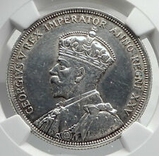 1935 CANADA UK King GEORGE V with Voyagers Genuine Silver Dollar Coin NGC i79890