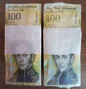 2017 Venezuela (2) 100,000 Bolivares 2000 Pcs BRICKS 2 BLOCKS UNC