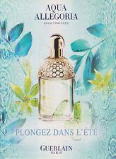 Publicité papier - advertising paper - Aqua Allegoria de Guerlain