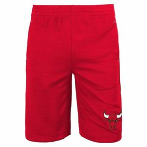 Outerstuff Chicago Bulls NBA Boys Youth (8-20) Free Throw Shorts, Red