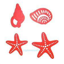 4pcs Silver Sea Shells Cutting Dies Stencils for DIY Scrapbook Steel Craft Gift