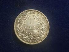 "1 Mark 1914 D Silber "" Erhaltung ""  W/16/616"