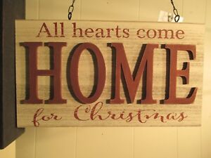 """""""HOME FOR CHRISTMAS"""" - Replacement Sign - Wood Sign for Country Arrow Holders"""