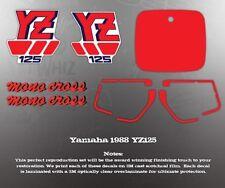 YAMAHA 1988 YZ125 DECAL GRAPHIC KIT LIKE NOS