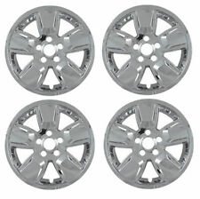 """New Set of 4 16"""" Chrome Wheel Skins for 2008-2013 Jeep Liberty 16"""" Alloy Wheels"""