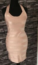 French Connection Ladies Dusty Sequins Pink Dress Size 10 New Labels (901DB8)