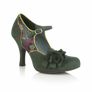 Ruby Shoo Ashley Shoes Sz 3- 9 Forest Green Mary Jane