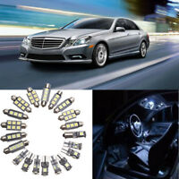 20X Car Auto Interior LED Light Bulbs For Mercedes Benz C Class W204 2008-2015