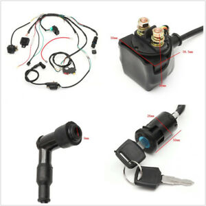 Motorcycles CDI Wiring Harness Coil Rectifier CDI Switch For 50 70 90 110 125cc