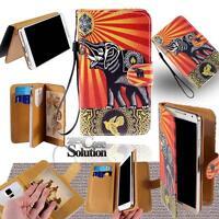 NUOVO IN PELLE supporto flip portafoglio Cover Custodia per telefono Samsung