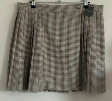 Primark Size 16 Ladies Brown, Red & Black Check Skirt, BNWT