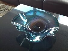 "Chihuly Style Paladino Hansen ""Neptune""  Blown Art Glass Bowl  Sculpture Signed"