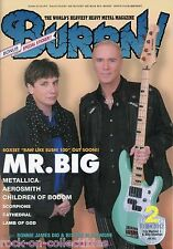 Burrn! Heavy Metal Magazine February 2012 Japan Mr. Big Metallica Scorpions