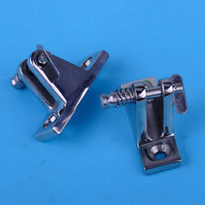 2x90 Degree Boat Bimini Top Deck Hinge With Release Pin Marine Fitting Hardware
