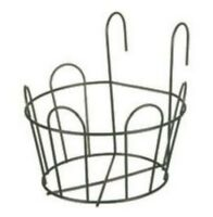 Tulip Bell Balcony Round Planter Basket Window Box Pot Holder Hanger Hooks 20 cm