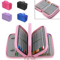 Large Capacity School/College/Uni Pen Pencil Cases Zip Stationery Pouch Bag Pro
