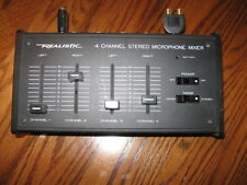 REALISTIC 4 CHANNEL STEREO MICROPHONE MIXER