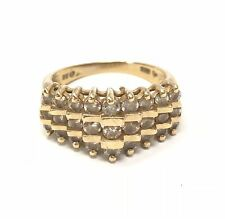 1.00ctw Diamond 10kt YG Tiered Setting Ladies Ring Size 6.75