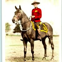 1930s Gowen Sutton Hand Colored RPPC Royal Canadian Mounted Police Horse Vtg A3