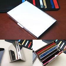 New Waterproof Mirror Stainless Steel ID Credit Card Mini Wallet Holder Case Box